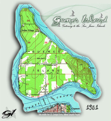 Map Guemes Island 1951