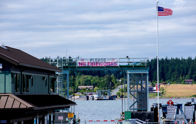 No Fireworks on Guemes Island Please.